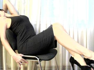 Picture of the sexy profile of AngeDoux, for a very hot webcam live show !